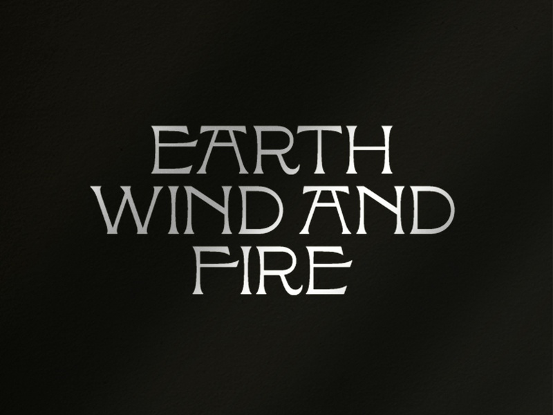 Earth, Wind and Fire lockup typedesign typography