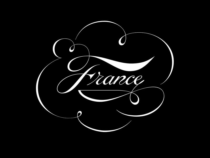 France lettering artist type flourishing typography lettering