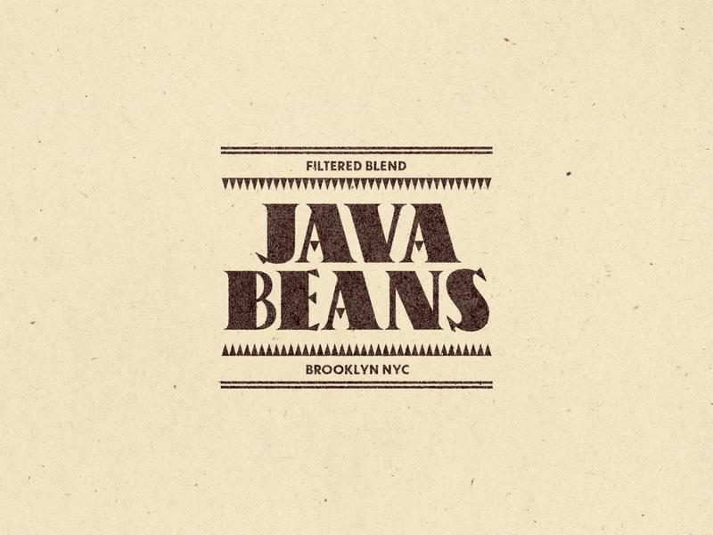 Java Beans branding lockup logo typography logo typography coffee brand typedesign type coffee