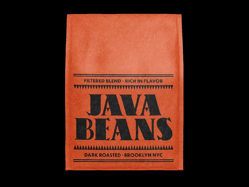 Java Beans Dark Roasted typedesign typography branding coffee packaging
