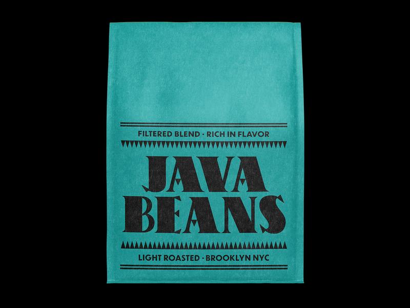 Java Beans Light Roasted coffee label typography type lettering logo icon lockup design branding typogaphy