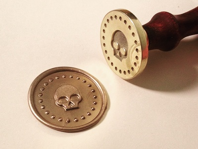 Wax Seal playing cards badge stamp design illustration wax seal