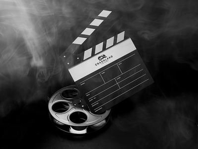 Film Slate logo typography photography branding film