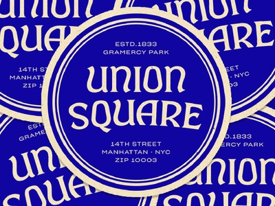 Union Square Coasters typography design type lettering