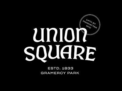 Union Square Lettering lockup type lettering design