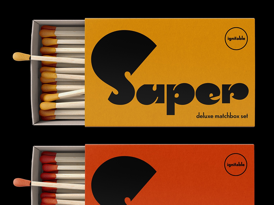 Matchbox Set type design lettering typography