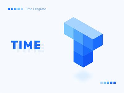 Logo for App「Time Progress」 time app logo