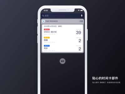 Widget for the App「Time Progress」 time app widget