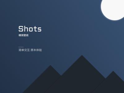 Design for the app 「Shots Wallpaper」