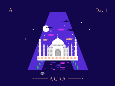 A ~ Agra designmilk artandfound adobe theydrawandtravel designspiration graphicdesigncentral pirategraphic illustree illustration sheherseries 36days-a @36daysoftype