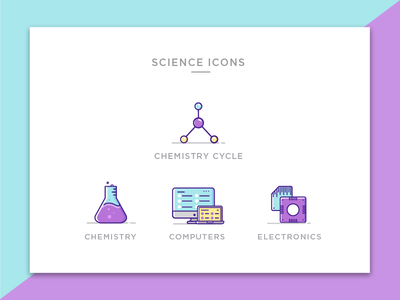 Engineering Icons -Science - Set 3 vector uxui science physics lineicons iconography flat engineering education designinspiration design chemistry