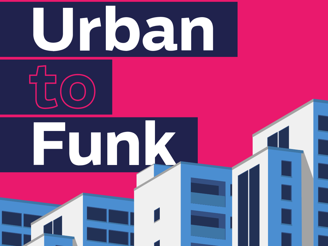 Urban to Funk event vector design typography illustration poster
