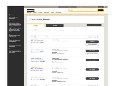 Internal Product Returns Application UX / UI