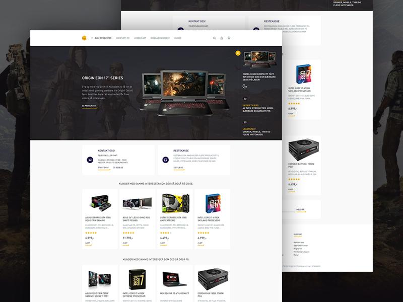 Komplett.no Re-design minimal parts computer electronics store shop ecommerce redesign komplett