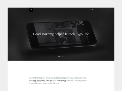 Good Morning norway norwegian redesign news blog landing portfolio minimal morning good