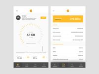 Komplett Mobile admin dashboard light minimal ui samsung iphone application app responsive mobile komplett