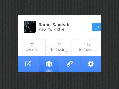 Profile twitter profile rebound icons minimal menu ui navigation message