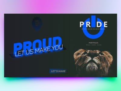 Pride.Studio   Main   Some Experiments full page visual design bold typography website experiments