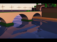 Train on the bridge | 3D animation