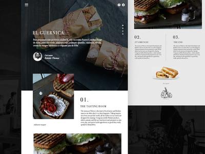 Delicatessen gourmet website  webdesign ui