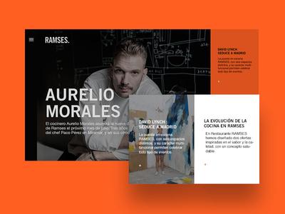 Ramses life - redesign webdesign ui