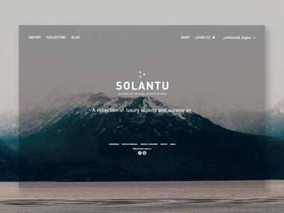 Solantu website webdesign ui