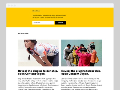 Seiyu Newsletter subscription webdesign ui