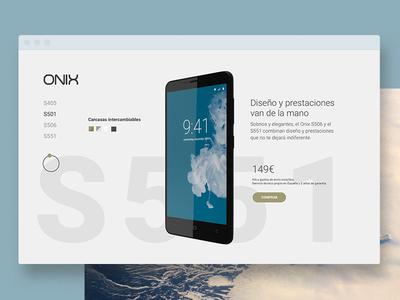 Onix Home webdesign ui