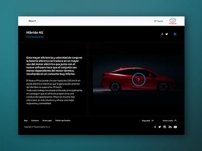 Toyota Prius - Brochure ux ui web design