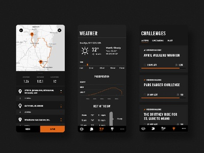 Harley Davidson App uidesign ios app product design