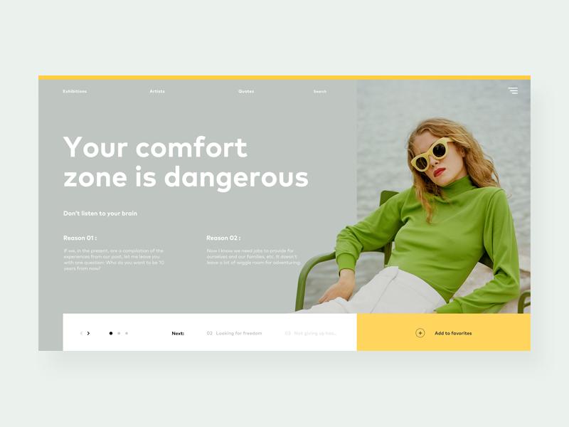 Z 31 blog quote landing minimal minimalistic ux ui green yellow comfort