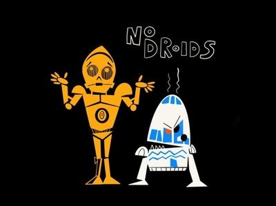 No droids allowed sketch procreate ipad 2d illustration cantina r2d2 c3po star wars droids