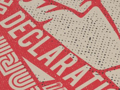 Declaration of Dependence Poster posterdesign poster posterart srvntcreativenetwork srvntmy srvnt