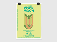 Patriot Rock Melon Poster Design