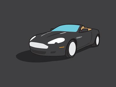 2008 Aston Martin DB9 Volante | MHCC flat color aston martin symbol car illustration db9