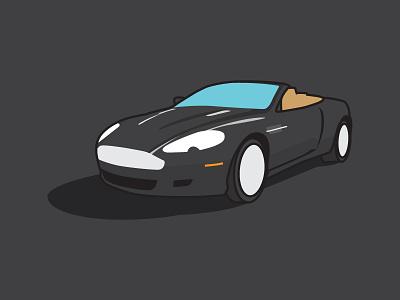2008 Aston Martin DB9 | Update flat color aston martin db9 illustration car