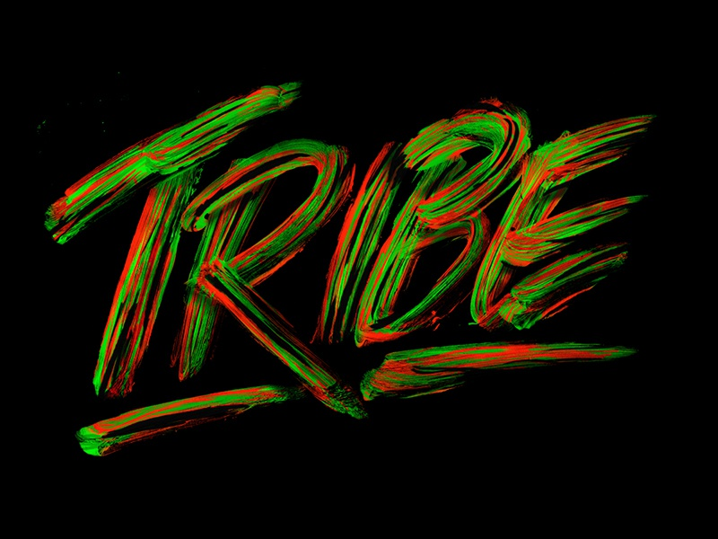 Tribe wild texture type typography handtype a tribe called quest atcq paint lettering handlettering photoshop