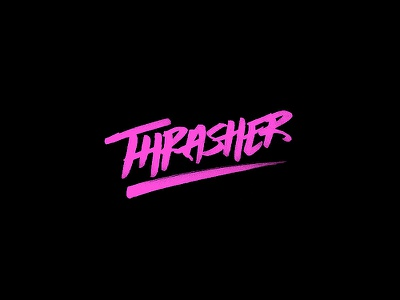 Thrasher wip thrasher handlettering lettering typography type process