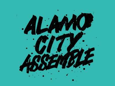 Alamo City india ink hand lettering lettering typography type vector texture ruling pen alamo goodtype