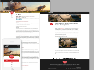 Website 03 - News Listing and News Detail Page