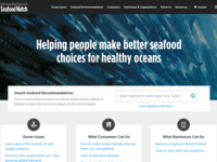 Seafood Watch Homepage Redesign