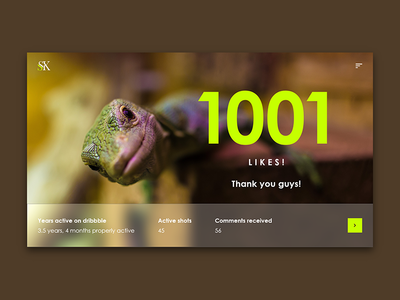 Thank you - 1001 likes!