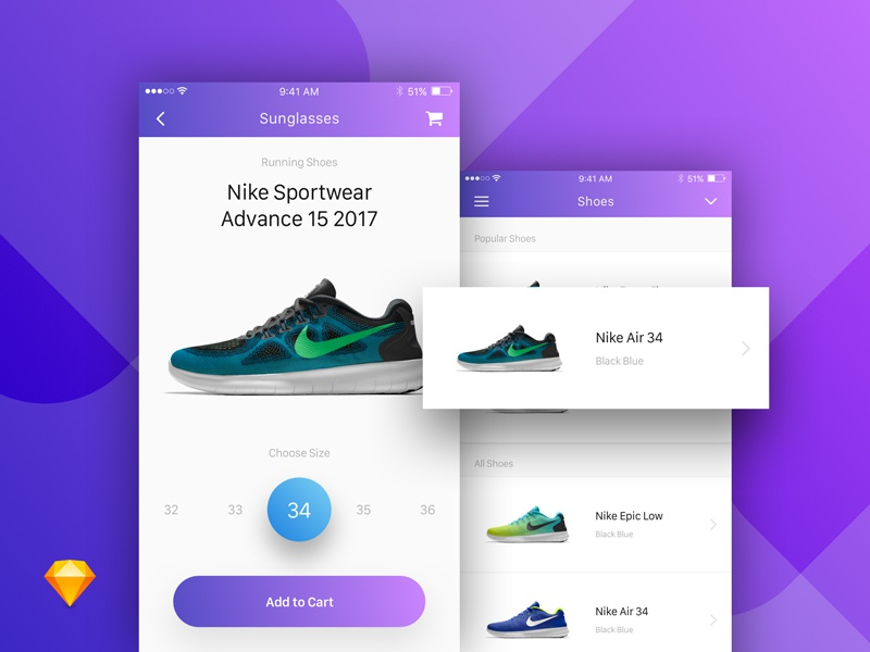 E-Commerce Product Mobile App Screens