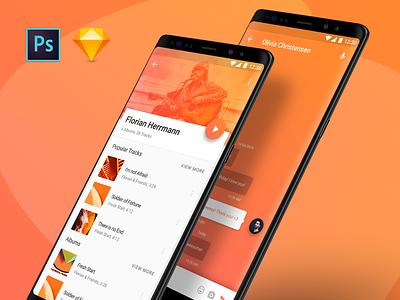 Lora Material Design UI Kit freebie free premium ui kit app ux ui design material lora