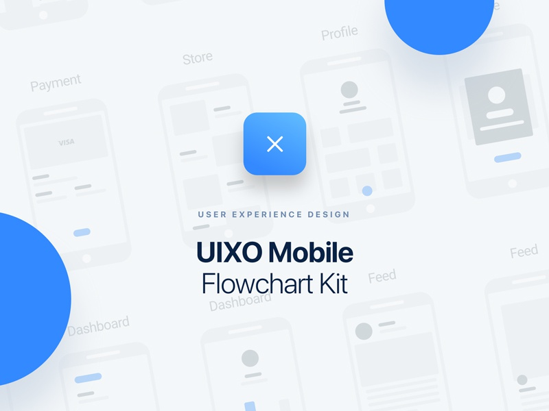 UIXO Mobile Flowchart Kit freebie wireflow wireframe flowchart ui8 design app ui ux