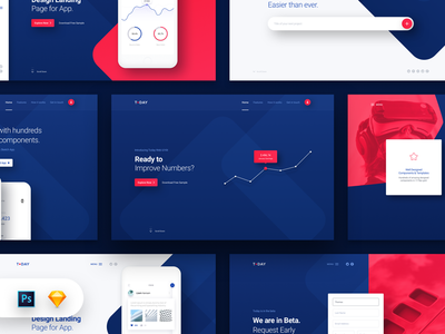 today web ui kit cover hero header collection by panoply store