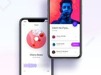 Music player and playlist iOS screens