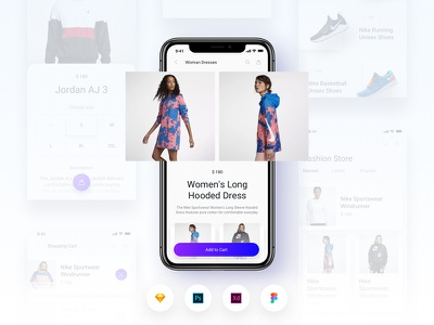 Brake UI Kit 2.0 - E-Commerce Shopping Store Template app template shop store e-commerce ui kit free ux ui ios
