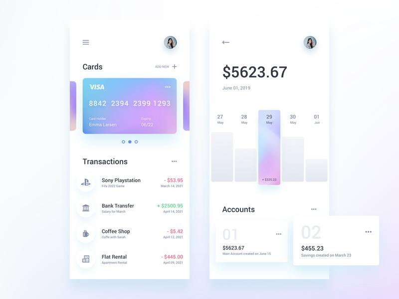 Finance Wallet App Template