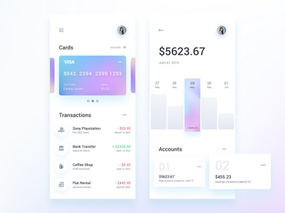Finance Wallet App Template stats statistics wallet app uidesign dashboard ui kit ux ui finance